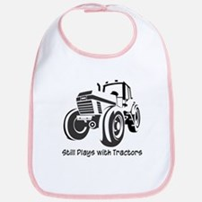 Still Plays with Tractors Bib