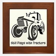 Still Plays with Tractors Framed Tile
