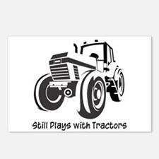Still Plays with Tractors Postcards (Package of 8)