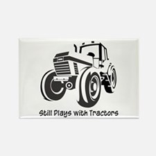 Still Plays with Tractors Rectangle Magnet (10 pac
