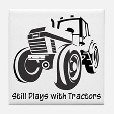 Still Plays with Tractors Tile Coaster