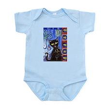 Black cats goldfish Infant Creeper