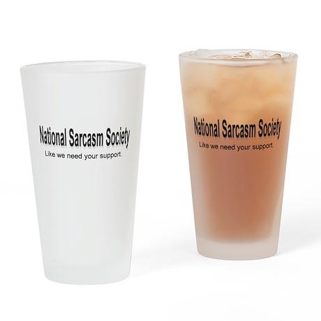National Sarcasm Society ... Drinking Glass
