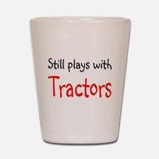 Still plays with Tractors Shot Glass