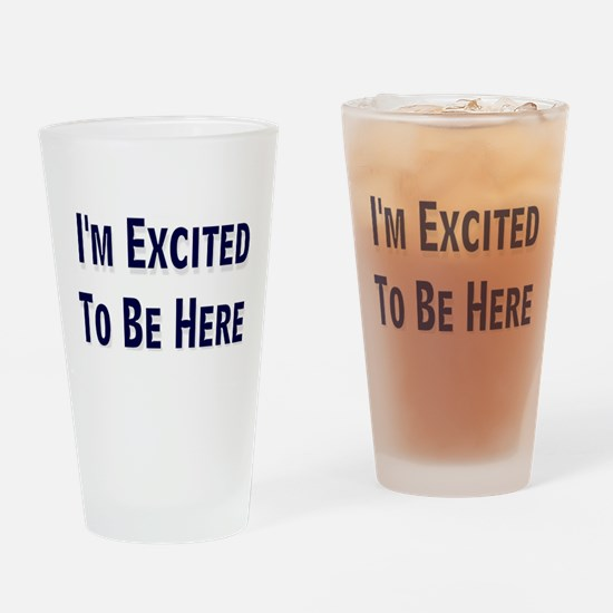 Excited Drinking Glass