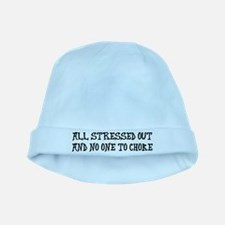 All stressed baby hat