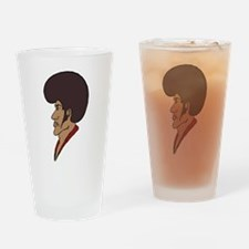 Afro Man Drinking Glass