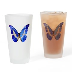 Blue Butterfly Drinking Glass