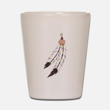 Feather Shot Glass