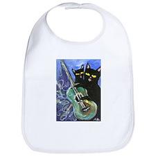 Black cat guitar Bib