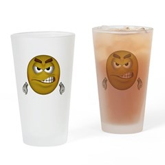 Angry Smiley Drinking Glass