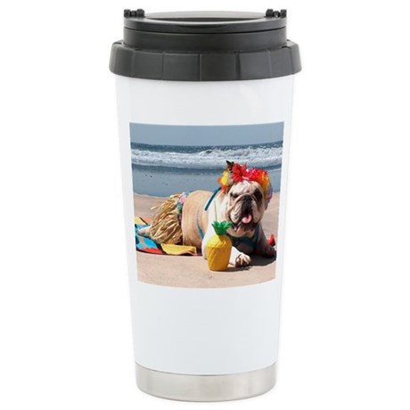 Tiki Girl Stainless Steel Travel Mug