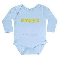 simply b Long Sleeve Infant Bodysuit
