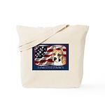 Am Staff Dog Flag USA Tote Bag