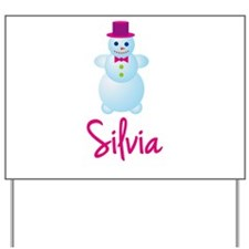 Silvia the snow woman Yard Sign