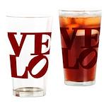 Velo Love Drinking Glass
