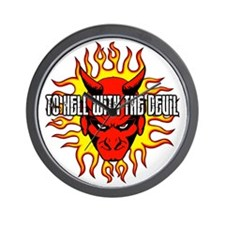 To Hell With The Devil Wall Clock