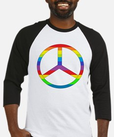 Peace Sign Rainbow Baseball Jersey