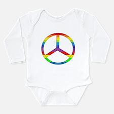 Peace Sign Rainbow Long Sleeve Infant Bodysuit