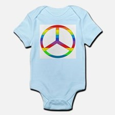 Peace Sign Rainbow Infant Bodysuit