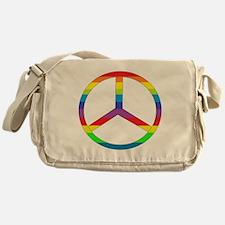 Peace Sign Rainbow Messenger Bag