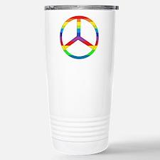 Peace Sign Rainbow Stainless Steel Travel Mug