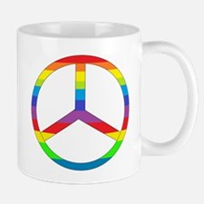 Peace Sign Rainbow Mug
