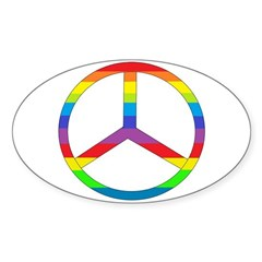 Peace Sign Rainbow Decal