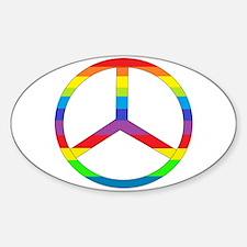 Peace Sign Rainbow Decal