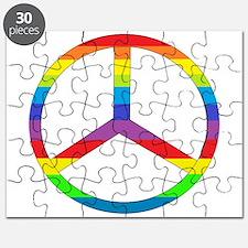 Peace Sign Rainbow Puzzle