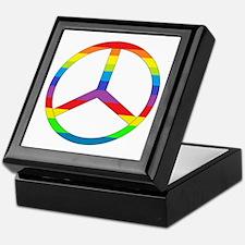 Peace Sign Rainbow Keepsake Box