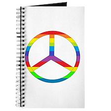 Peace Sign Rainbow Journal