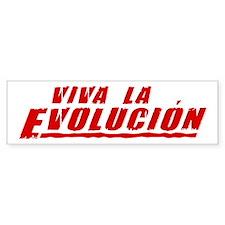 Viva la Evolucion Bumper Car Sticker