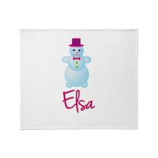Elsa the snow woman Throw Blanket