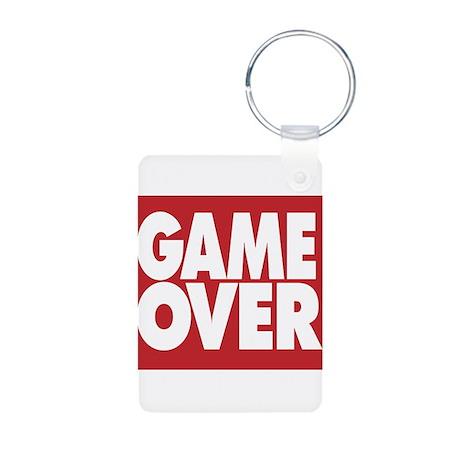 Game Over Aluminum Photo Keychain