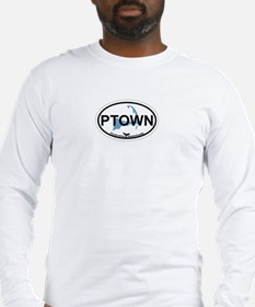 Provincetown MA - Oval Design. Long Sleeve T-Shirt