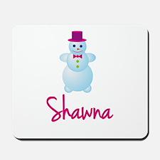 Shawna the snow woman Mousepad