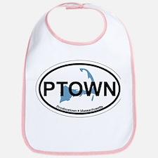 Provincetown MA - Oval Design. Bib