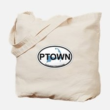 Provincetown MA - Oval Design. Tote Bag