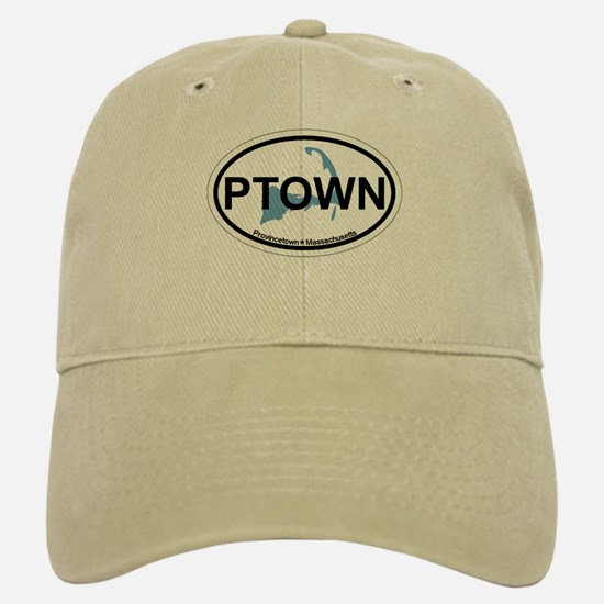 Provincetown MA - Oval Design. Baseball Baseball Cap