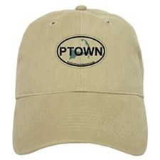 Provincetown MA - Oval Design. Baseball Cap