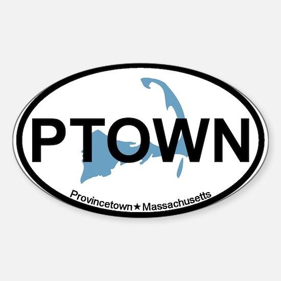 Provincetown MA - Oval Design. Sticker (Oval)
