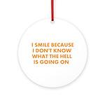 I smile merchandise Ornament (Round)
