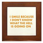 I smile merchandise Framed Tile
