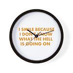 I smile merchandise Wall Clock