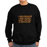 I smile merchandise Sweatshirt (dark)