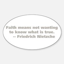 Faith Means Oval Decal