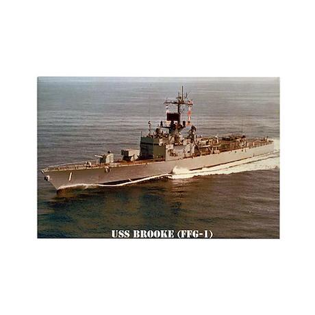 USS BROOKE Rectangle Magnet