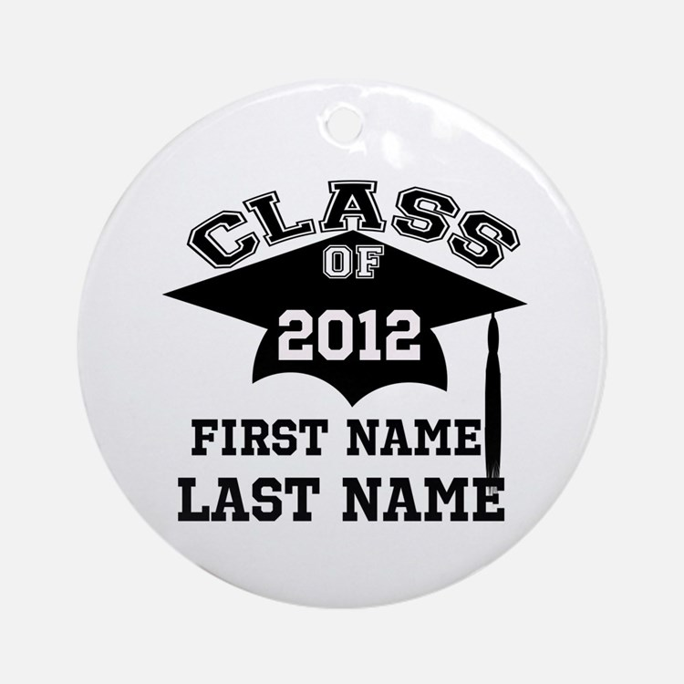 Customizable Senior Ornament (Round)