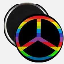 """Peace Sign Rainbow 2.25"""" Magnet (100 pack)"""